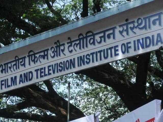 FTII students after calling off their strike in Pune on Wednesday.