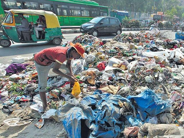 Municipal officials say there is no immediate relief in sight from garbage scattered on roads in east and north Delhi.