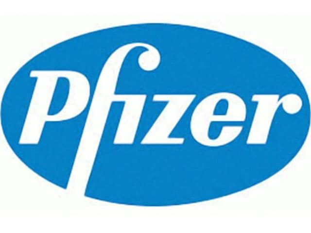 Pharmaceutical giant Pfizer's logo.