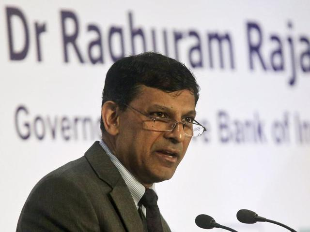 In this file photo, Reserve Bank of India (RBI) governor Raghuram Rajan speaks during a gathering of industrialists and bankers in Mumbai.