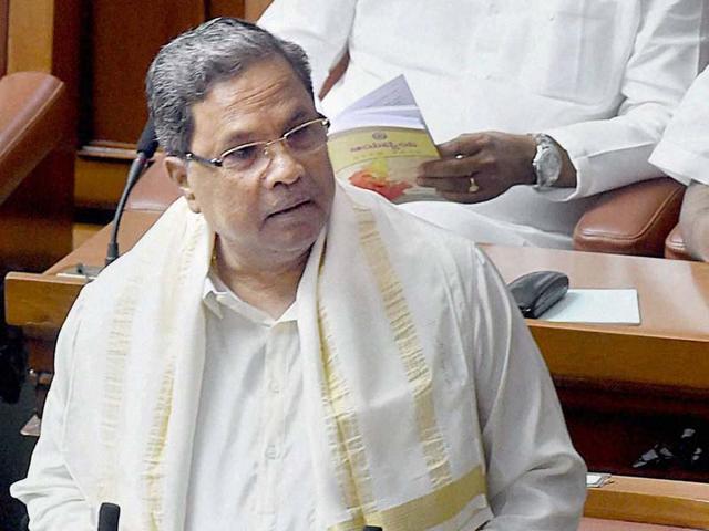 A file photograph of Karnataka chief minister Siddaramaiah.