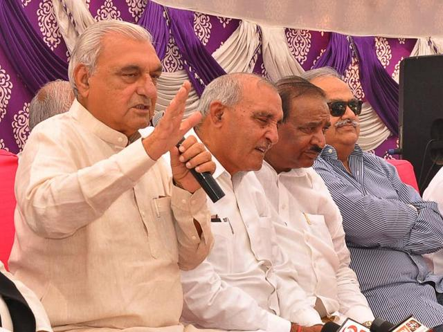 Former Haryana chief minister Bhupinder Singh Hooda addressing mediapersons in Chandigarh on Thursday.