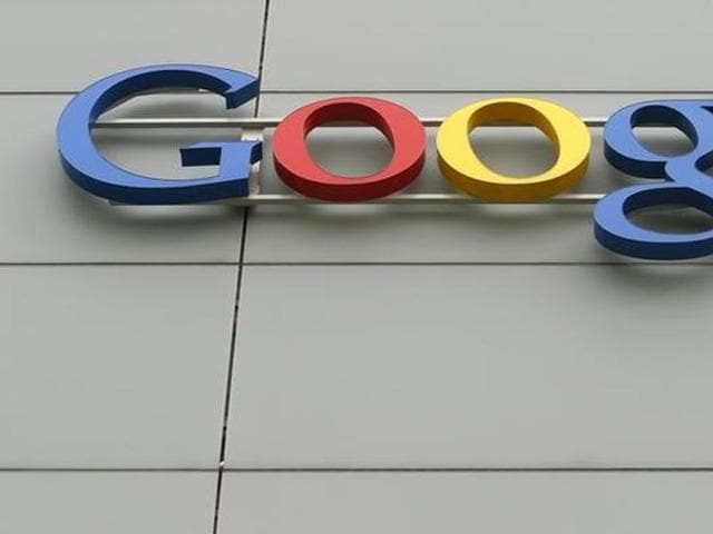 A logo is pictured at Google's European Engineering Center. REUTERS