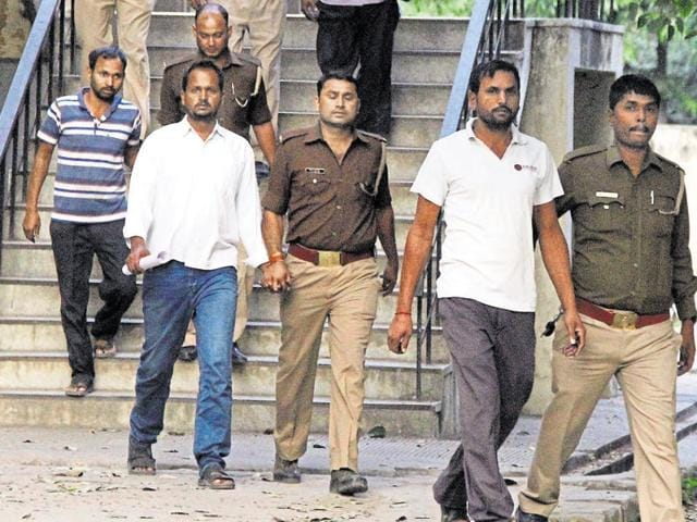 A court in Ghaziabad found the four accused guilty of murder and destruction of evidence.