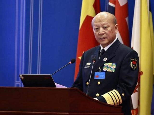 """China's naval commander Wu Shengli  told his US counterpart that a minor incident could spark war in the South China Sea if the United States did not stop its """"provocative acts"""" in the disputed waterway."""
