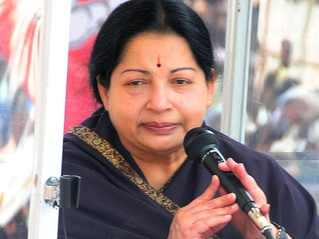 File photo of Tamil Nadu chief minister J Jayalalithaa. A  folk singer, Shiva Raj, was arrested on October 30, 2015, on sedition charges for allegedly criticising the CM.