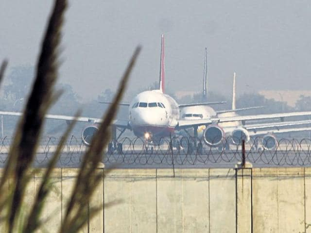 A file photo of Delhi's IGIairport. The Indian Air Force had been asked to keep a watch on aerial threats and shoot down suspicious objects.