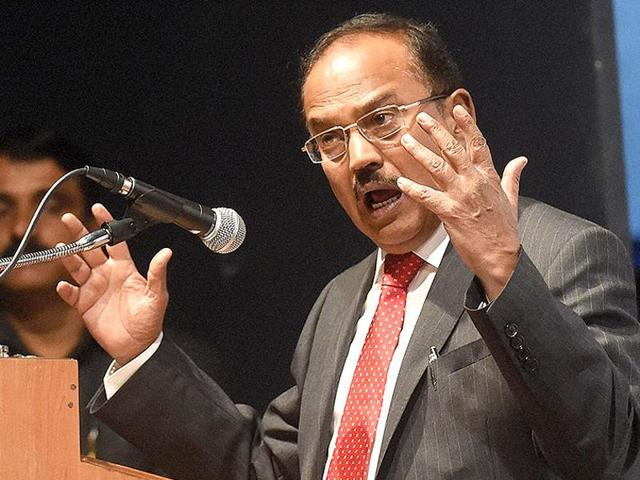 Managing internal security is going to be a major challenge for the country, national security advisor Ajit Doval said on Saturday.  (PTI photo)