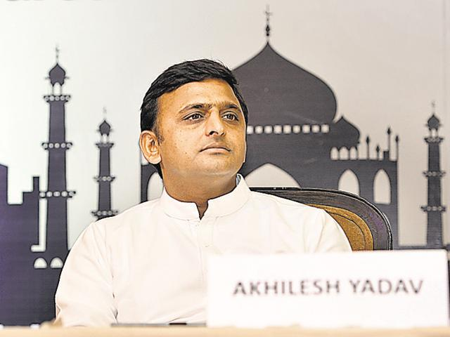 """There seems to be a need to build up Akhilesh Yadav's image of a """"ruler"""" who runs the government independent of his father and uncles.(Sushil Kumar/ HT File Photo)"""