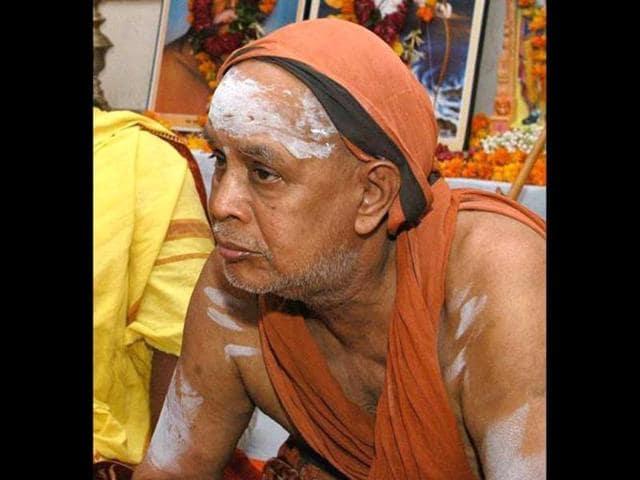 Jayendra Saraswathi, the head of the Kanchi Kamakoti Peetham.(HT Photo)