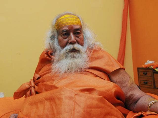 Shankaracharya Swaroopanand Saraswati in Bhopal on Friday.