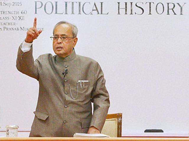 File photo of President Pranab Mukherjee.