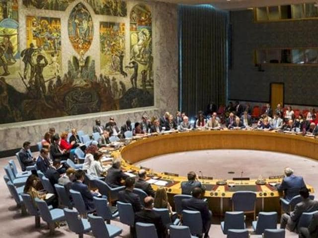 """Members of the United Nations Security Council during a meeting at the UN HQ. India has said that the body's """"malfunctioning"""" has resulted in a huge human and economic cost, and that drastic reforms were urgently required."""