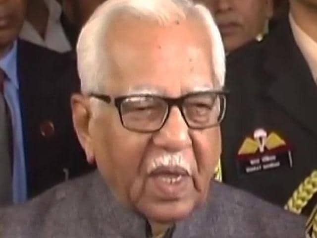 UP governor Ram Naik accidently stopped a band from playing the national anthem at the Raj Bhawan.