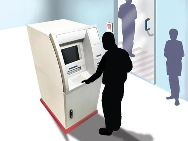 The miscreants blurred the CCTV cameras with a black spray and then cut open the cash box with a gas cutter.