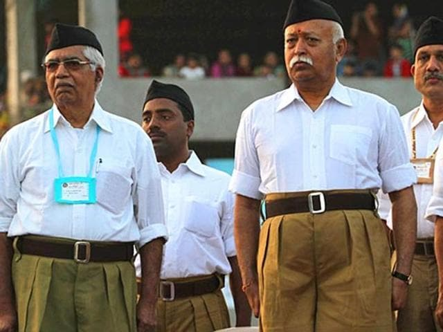 RSS chief Mohan Bhagwat.