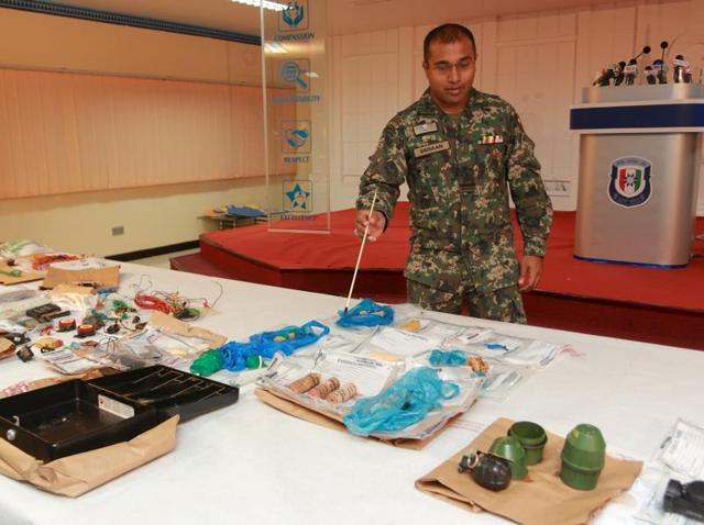 Maldives,Cache of arms,Explosives