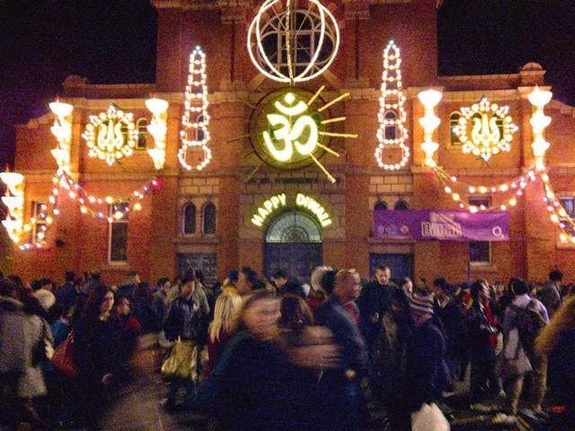 Diwali celebrations in Leicester reflect a complex history of migration of Indian-origin people, mostly Gujaratis.