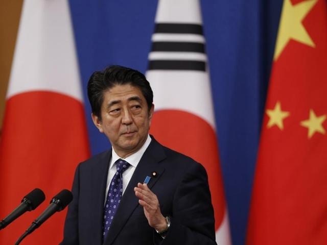 Shinzo Abe,Park Geun-hye,Premier Li Keqiang