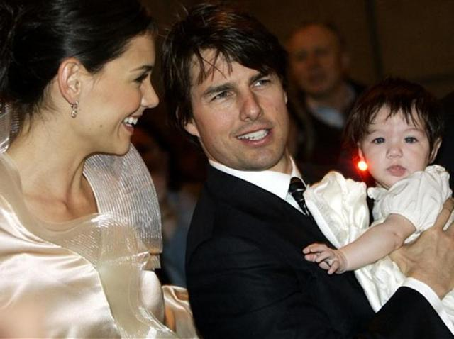 A File Photo Of Katie Holmes And Tom Cruise With Baby Suri