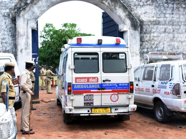 A man accused of murdering two prominent Bajrang Dal leaders and his close associate were killed inside the Mangalore prison on Monday morning.