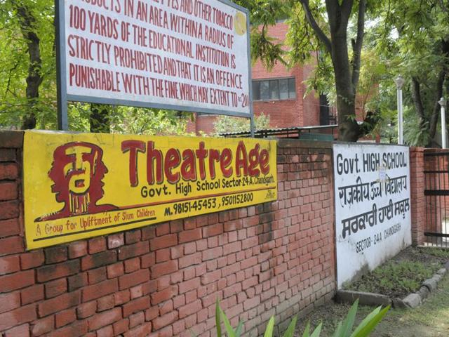 The UT education department has appointed a junior basic teacher for the Theatre Age students at the Government High School in Sector 24, Chandigarh, only 15 days ago.