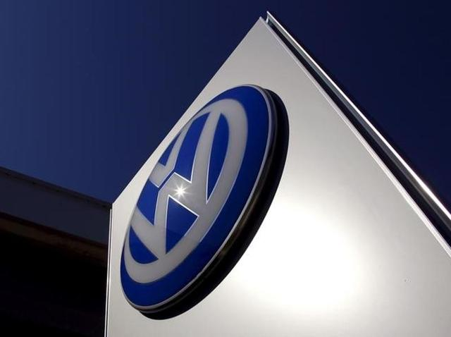 A Volkswagen logo adorns a sign outside a dealership for the German automaker located in the Sydney suburb of Artarmon.