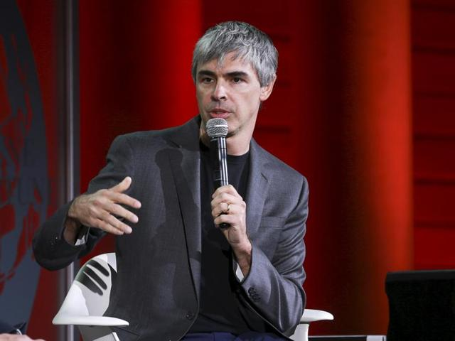 Larry Page, CEO and Co-founder of Alphabet, participates in a conversation with Fortune editor Alan Murray at the 2015 Fortune Global Forum in San Francisco.