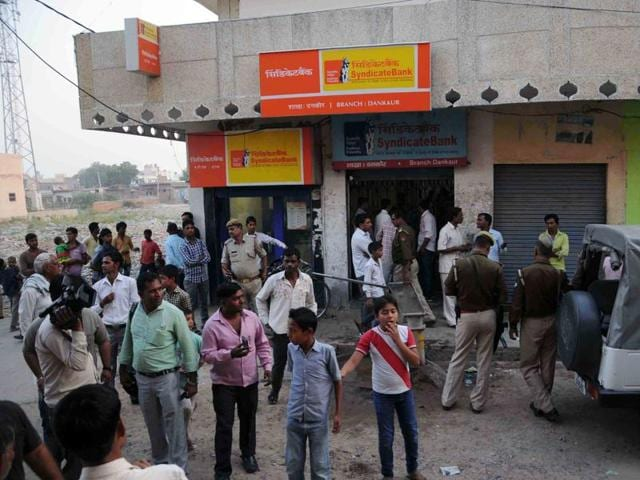 A branch of Syndicate Bank at Dankaur in Greater Noida was robbed on October 26.