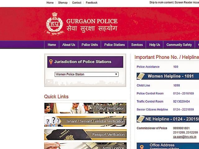 The Gurgaon police's website did not have any information about the women police station till Monday evening.