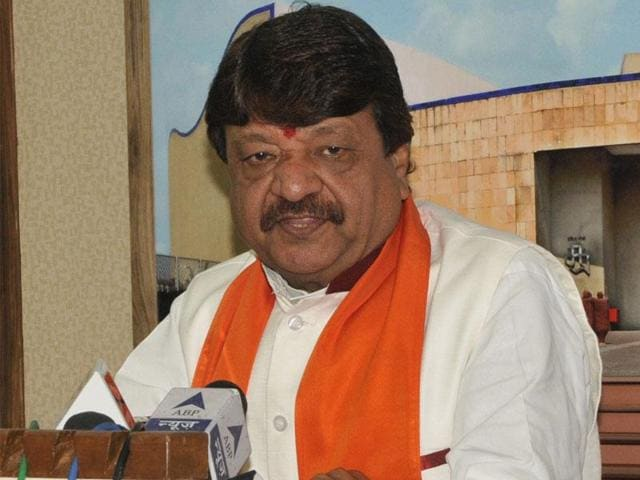 """BJP leader Kailash Vijayvargiya. The former MP minister has attacked Bollywood actor Shah Rukh Khan over his """"extreme intolerance"""" comment.(HT File photo)"""