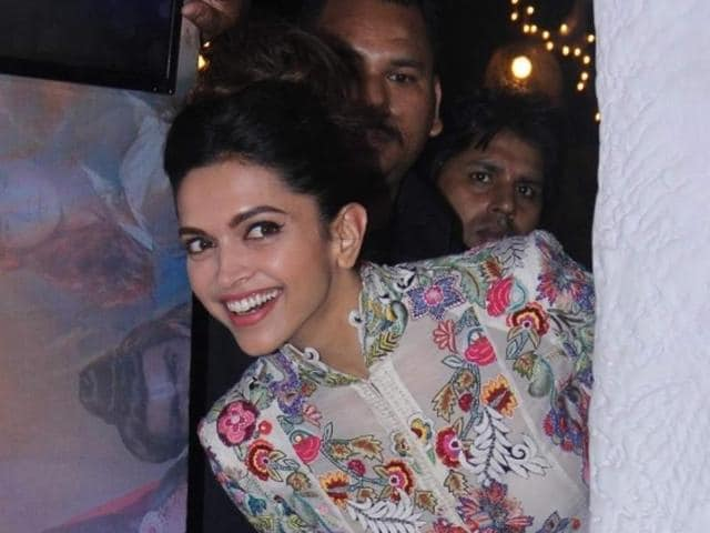 Actress Deepika Padukone during the launch of Tamasha's new song.