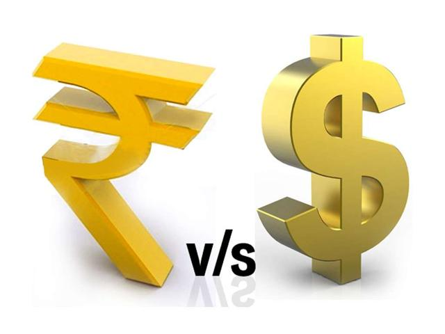 The rupee weakened by another 12 paise to trade at a fresh one-month low of 65.87 against dollar in early trade on Friday at the Interbank Foreign Exchange.