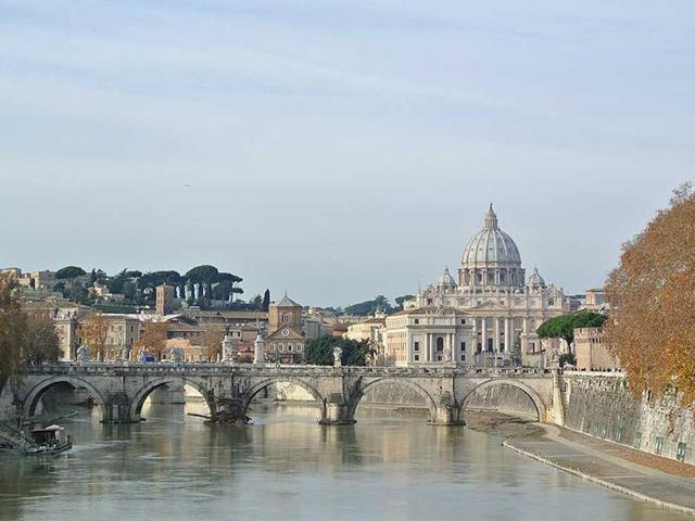 A file photo of St Peter's Basilica in Vatican City.