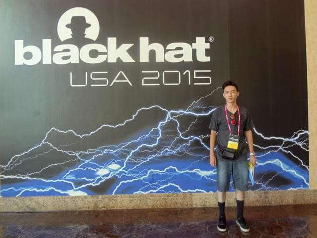 This August 2015 photo shows Moshe Kai Cavalin at the Black Hat USA computer security conference in Las Vegas.