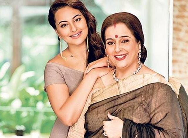Sonakshi with her mother Poonam Sinha.