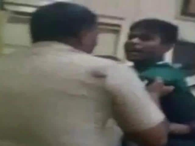 A young couple were seen in the video being manhandled by some cops inside the police station in suburban Andheri and the clip went viral on social media platforms.