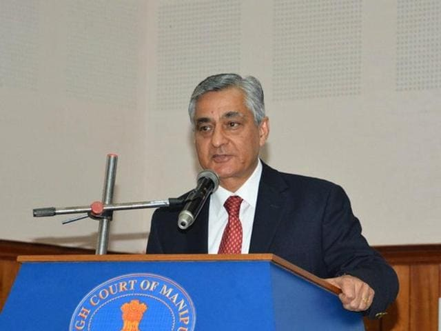 A file photo of Justice TS Thakur. Thakur will sycceed Justice HL Dattu as the next Chief Justice of India.