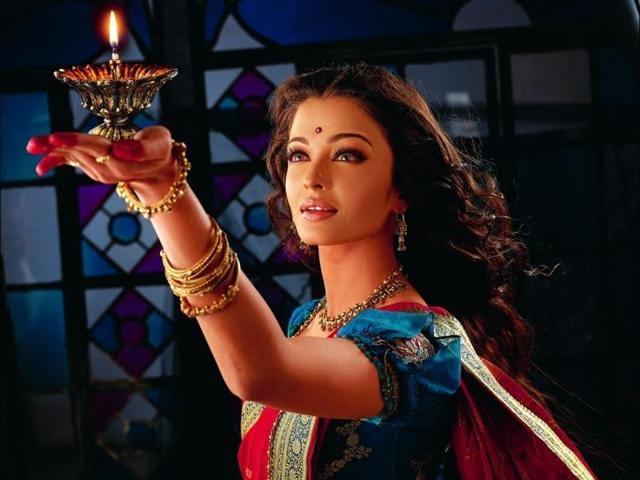 Aishwarya Rai Bachchan in Sanjay Leela Bhansali's Devdas.
