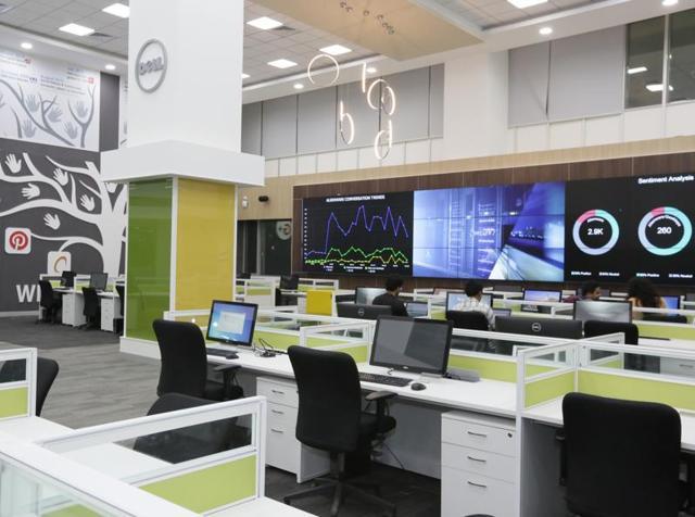 Dell's new 24/7 Social Media Listening Center in Bengaluru.