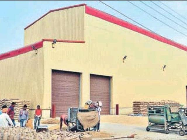 Bhogpur grain market,dryer plant,Centre