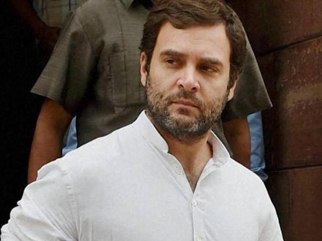 Congress vice president Rahul Gandhi .