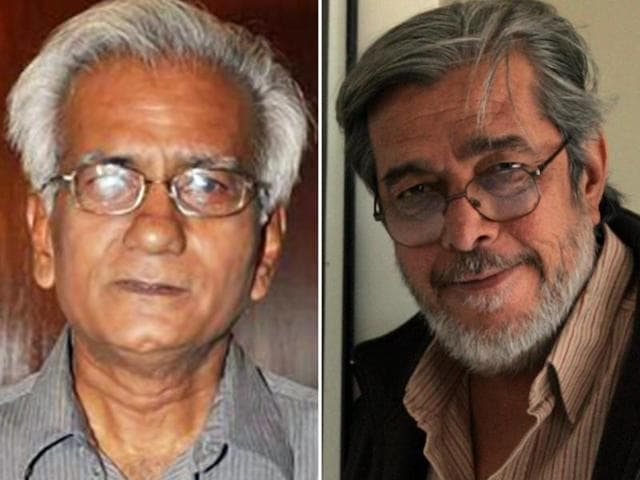 Filmmaker Kundan Shah (left)  and Saeed Mirza (right) are among two dozen artists including author Arundhati  Roy  who returned their national awards on Thursday, joining the growing anti-intolerance campaign.