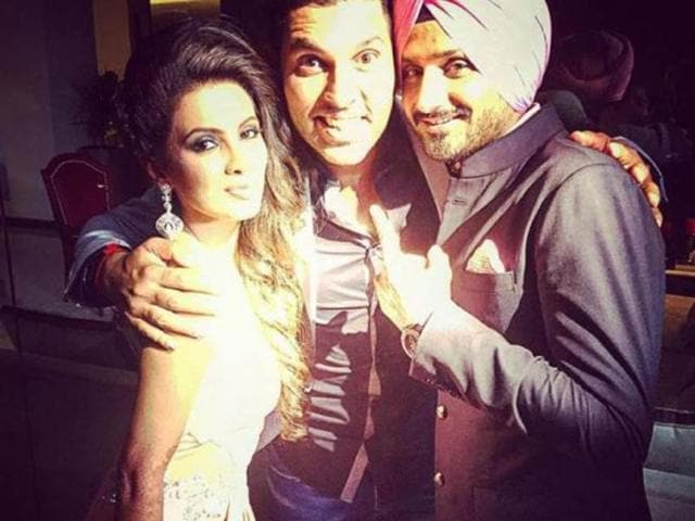 Yuvraj Singh puts rumours of wedding to rest,Yuvraj Singh and Hazel Keech,Harbhajan Singh-Geeta Basra wedding