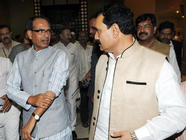 Leader of Opposition Satyadev Katare being helped inside the Vidhan Sabha on Thursday.