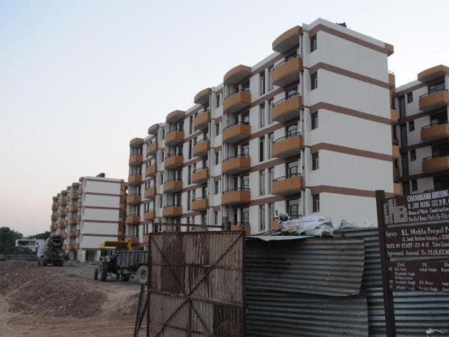 The CHB flats at Sector 63 in Chandigarh.