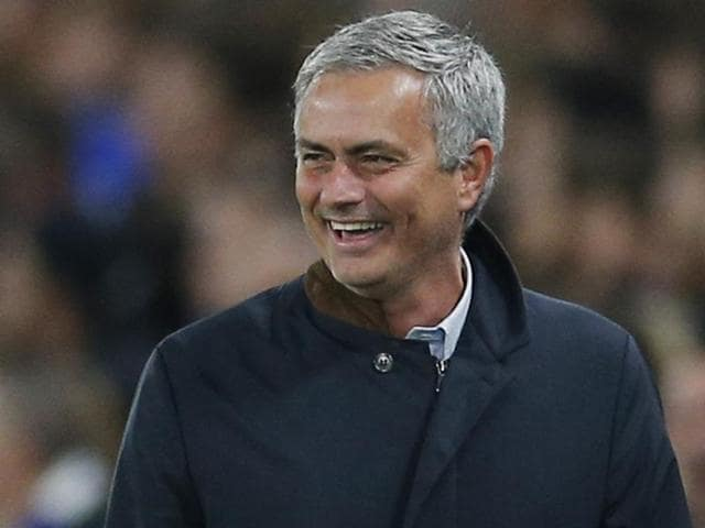 Chelsea manager Jose Mourinho reacts after his side were not awarded a penalty during their Uefa Champions League match against Dynamo Kiev at Stamford Bridge in London on November 4, 2015.