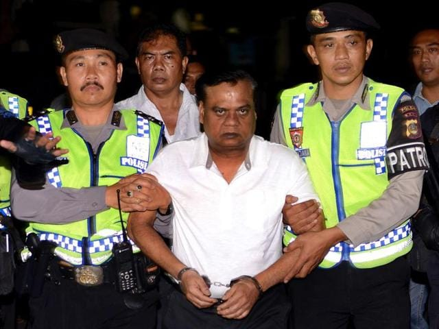 Underworld don Chhota Rajan arrived at the Air force Station, Palam in New Delhi early morning on Friday.