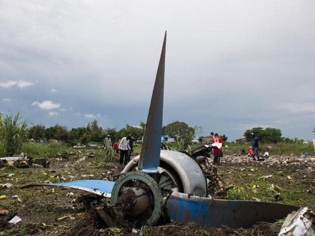 At least 26 people were killed when a plane crashed shortly after taking off from South Sudan's capital Juba.
