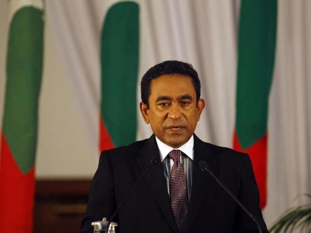 A file photograph of Maldives President Yaamin Abdul Gayoom.
